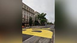 Washington DC paints a giant 'Black Lives Matter' message on the road to the White House