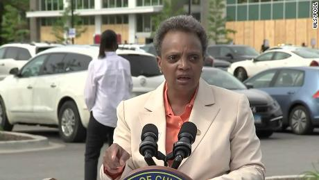 Chicago Mayor Lori Lightfoot speaks during a press conference in Chicago on June 5.