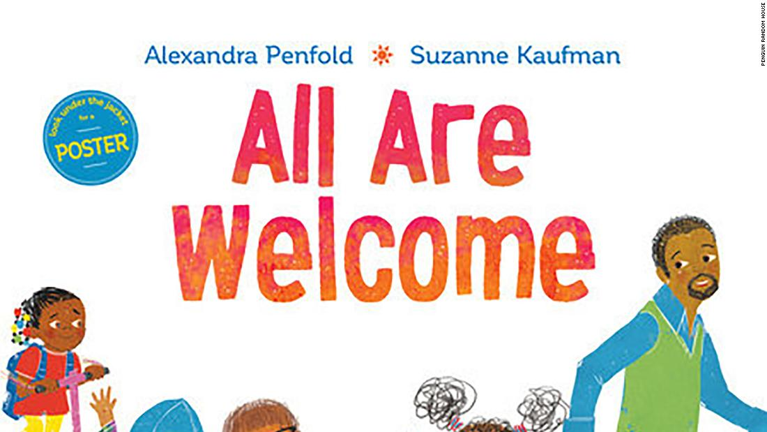 "An Amazon Best Children's Book of the Year selection, ""All Are Welcome"" by Alexandra Penfold welcomes a group of children from different backgrounds to play at school together."