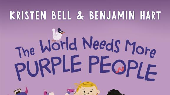 """Actress Kristen Bell asks everyone to become Purple People and bring their communities together in """"The World Needs More Purple People."""""""