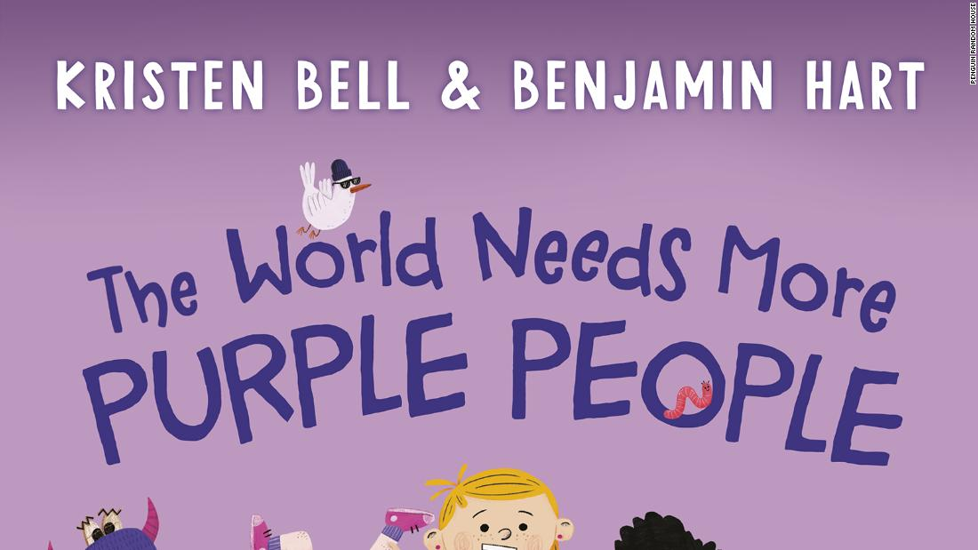 "Actress Kristen Bell asks everyone to become Purple People and bring their communities together in ""The World Needs More Purple People."""