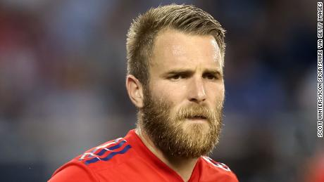 Serbian midfielder Aleksandar Katai shown here playing for the Chicago Fire in July 2019.