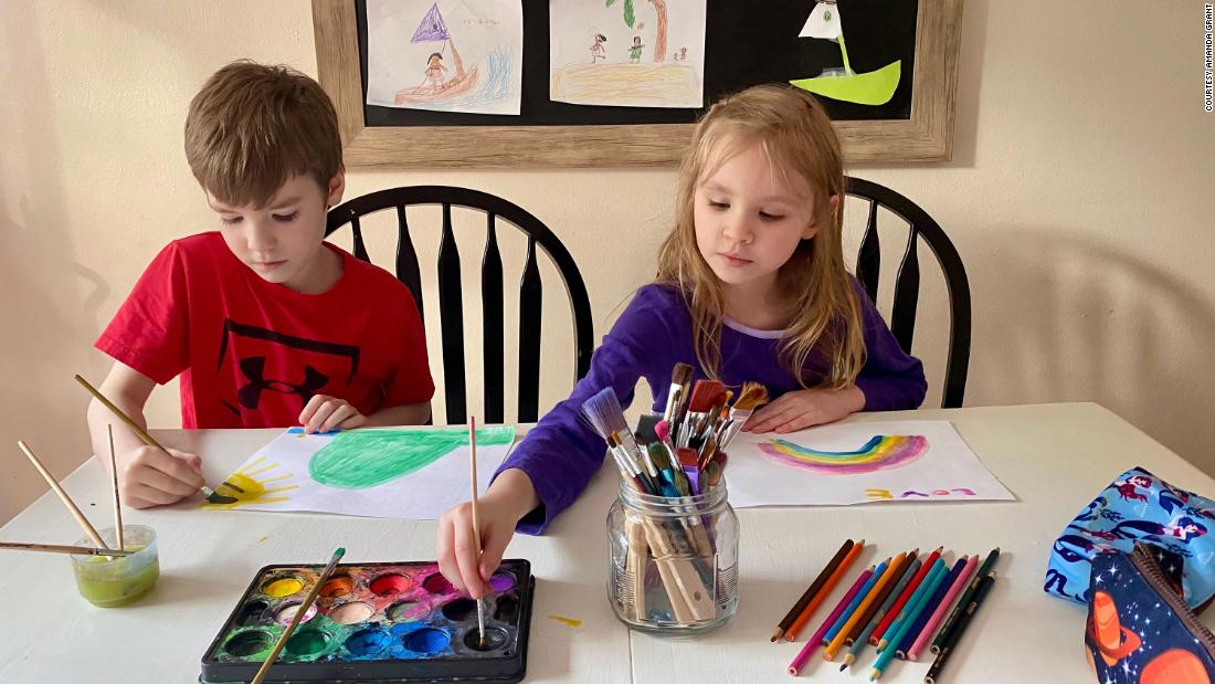 <strong>Break out the crayons and art supplies: </strong>Children often have a  care-free concentration on their faces when coloring.