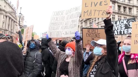 black lives matter global gatherings protests nic robertson pkg 3