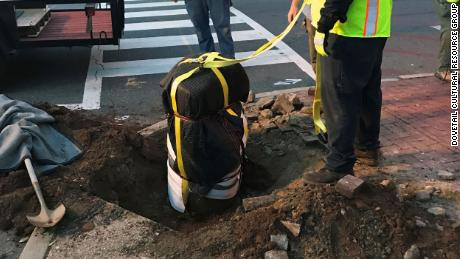 On Friday, June 5, the city of Fredericksburg, Virginia, removed this 800-pound auction block marking the spot where African Americans had once been displayed and sold as slaves.