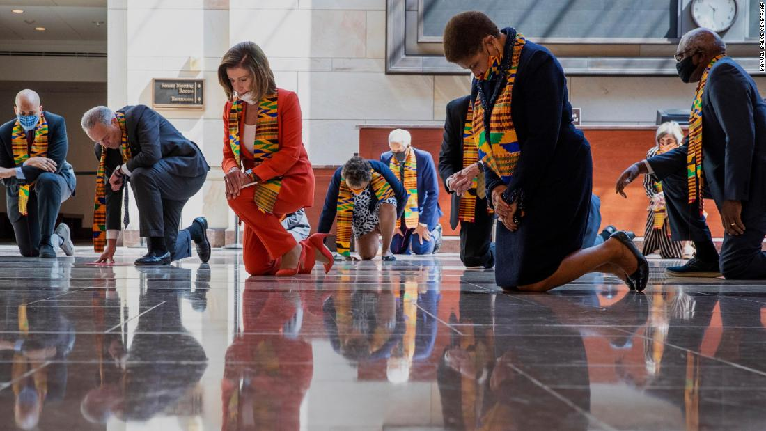 Congressional Democrats criticized for wearing Kente cloth at event honoring George Floyd - CNN thumbnail