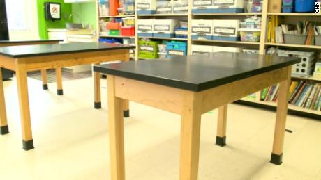Tables will be spaced out in classrooms and have only one chlld or a pair at each, Lathan said.