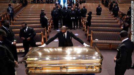 Joe Biden and Rev. Al Sharpton deliver remarks at George Floyd's funeral in Houston