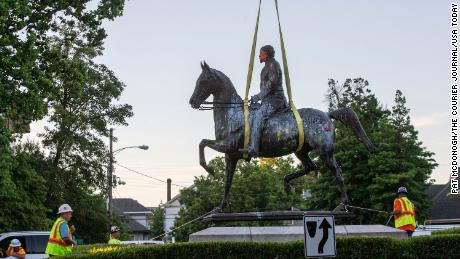The Confederate statues falling after George Floyd's death
