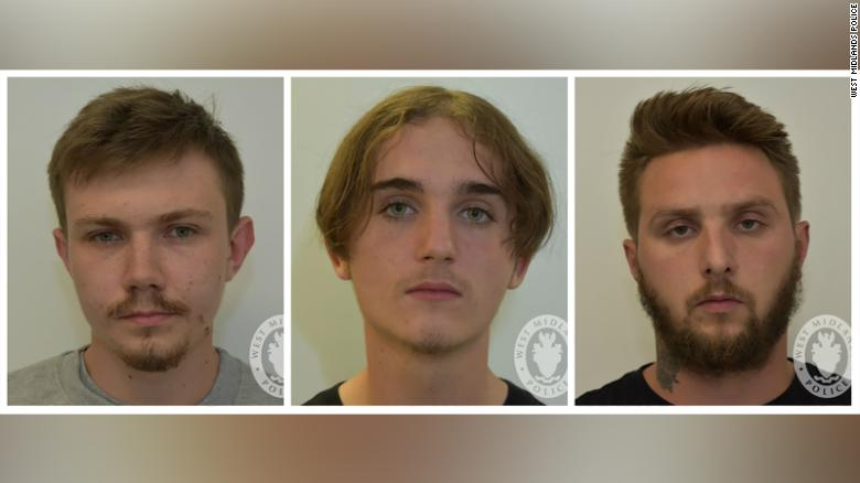 Garry Jack, Connor Scothern and Daniel Ward, members of the banned extreme right-wing neo-Nazi group National Action.