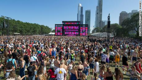 Lollapalooza, seen here in 2019, and other big outdoor events in Chicago have been canceled this summer due to the ongoing coronavirus pandemic.