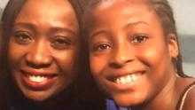 Stephanie Busari and her daughter in Lagos, Nigeria.
