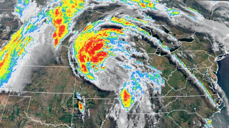 Cristobal will move into Canada bringing huge storms to Great Lakes region