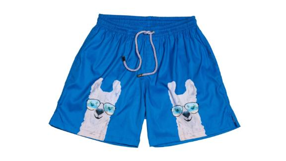 The Llama Me Maybes Swim Trunks