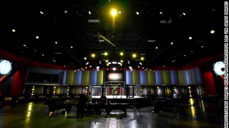 O viziune generală în interiorul APEX UFC înainte de evenimentul UFC Fight Night din 30 mai.