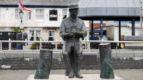 The statue of Baden-Powell will be removed Thursday.