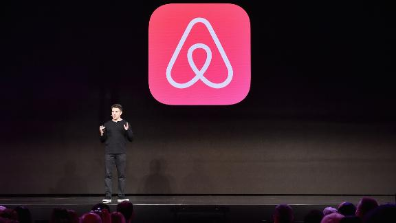 "LOS ANGELES, CA - NOVEMBER 17:  Airbnb CEO Brian Chesky speaks onstage during ""Introducing Trips"" Reveal at Airbnb Open LA on November 17, 2016 in Los Angeles, California.  (Photo by Mike Windle/Getty Images for Airbnb)"