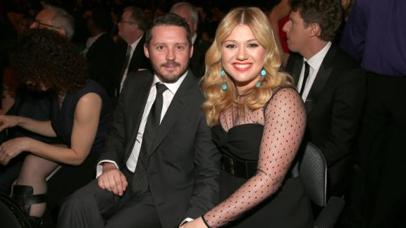 Singer Kelly Clarkson (R) and Brandon Blackstock attend the 55th Annual GRAMMY Awards at STAPLES Center on February 10, 2013 in Los Angeles, California.  (Photo by Christopher Polk/Getty Images for NARAS)