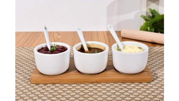 Singkasa Sauce Bowls-Condiment Set with Bamboo Tray