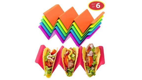 Colorful Taco Holder Stands Set of 6
