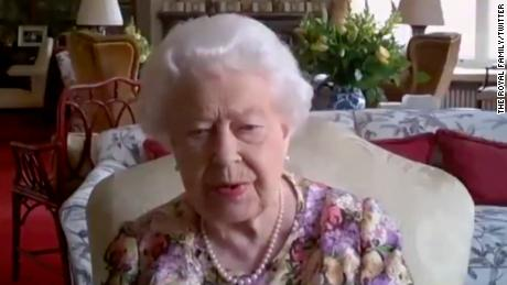 Queen Elizabeth II took part in the video conferencing call to mark Carers Week.