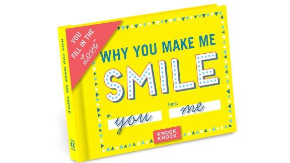 'Why You Make Me Smile' Fill-in-the-Blank Gift Journal