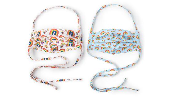 Rainbow Face Coverings, Set of 2