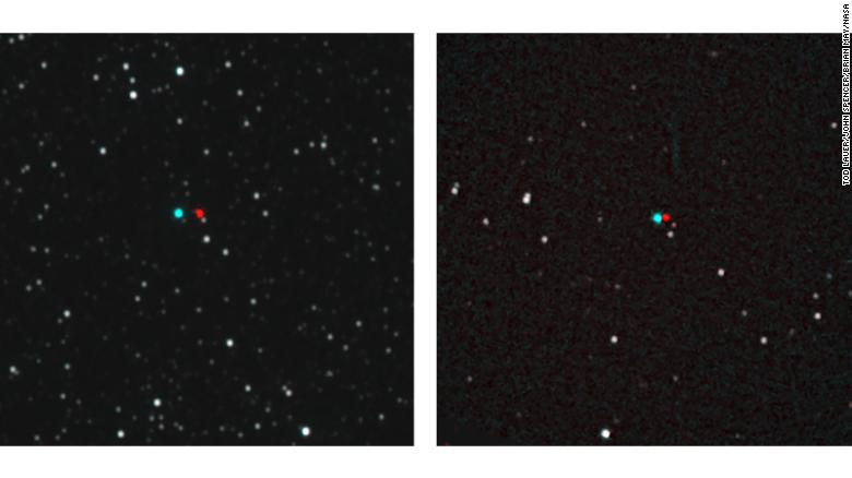 Have 3D glasses? You can view these stereo images that reveal the distance of the stars from their backgrounds. On the left is Proxima Centauri and on the right is Wolf 359.
