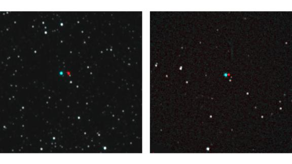 Have 3D glasses? You can view these stereo images that reveal the distance of the stars from their backgrounds, as seen by New Horizons. On the left is Proxima Centauri and on the right is Wolf 359.