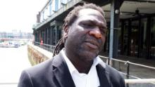 Poet-laureate Miles Chambers in the English city of Bristol on June 9.