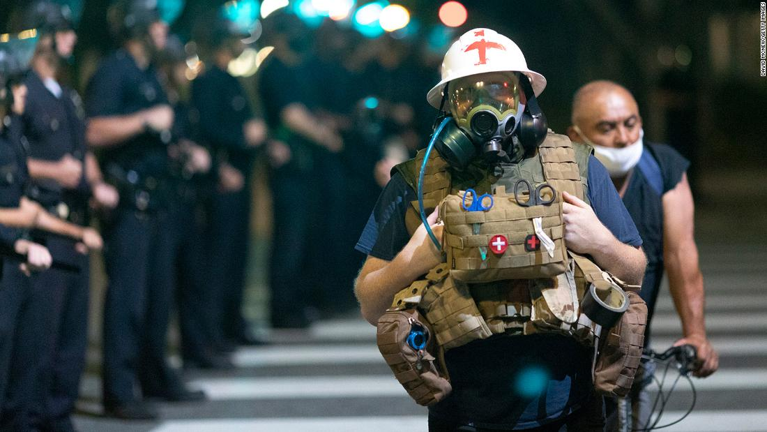 No 'rule book' for EMT's responding to protests amid a pandemic