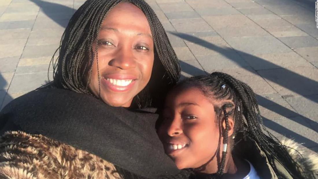 Stephanie Busari and daughter