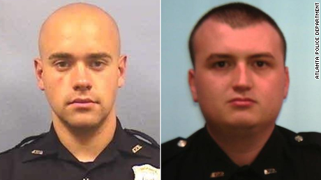 Atlanta officer Garrett Rolfe, left, and officer Devin Bronsan.