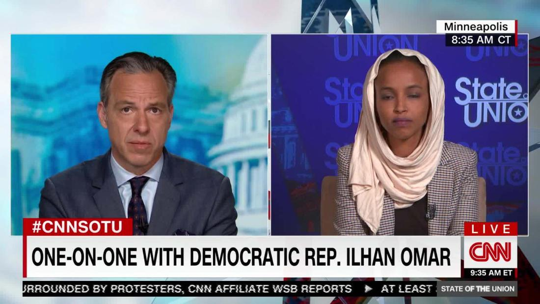 Tapper presses Omar on defunding the police - CNN Video
