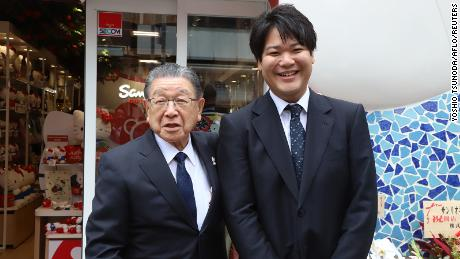 Sanrio president Shintaro Tsuji is handing the company over to his grandson, Tomokuni Tsuji.