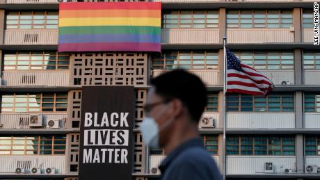 US embassy in Seoul removes Black Lives Matter and Gay Pride banners