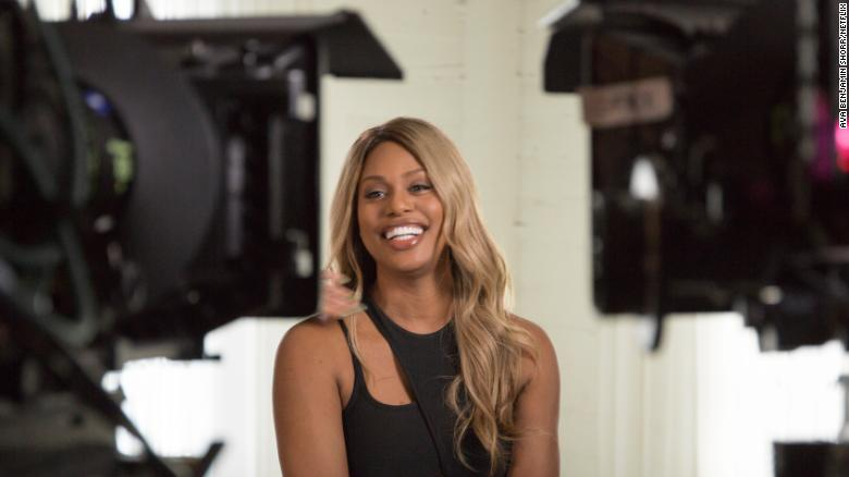 Laverne Cox interviewed in the Netflix documentary 'Disclosure.'