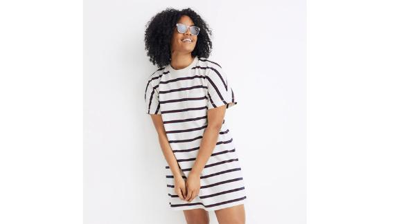 Tomboy Pocket Tee Dress in Stripe