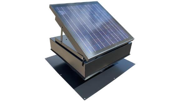 Remington Solar 25-Watt 1450 CFM Black Solar Powered Attic Fan