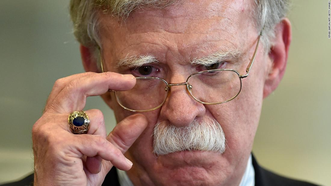 US National Security Advisor John Bolton answers journalists questions after his meeting with Belarus President in Minsk on August 29, 2019. (Photo by Sergei GAPON / AFP)        (Photo credit should read SERGEI GAPON/AFP via Getty Images)