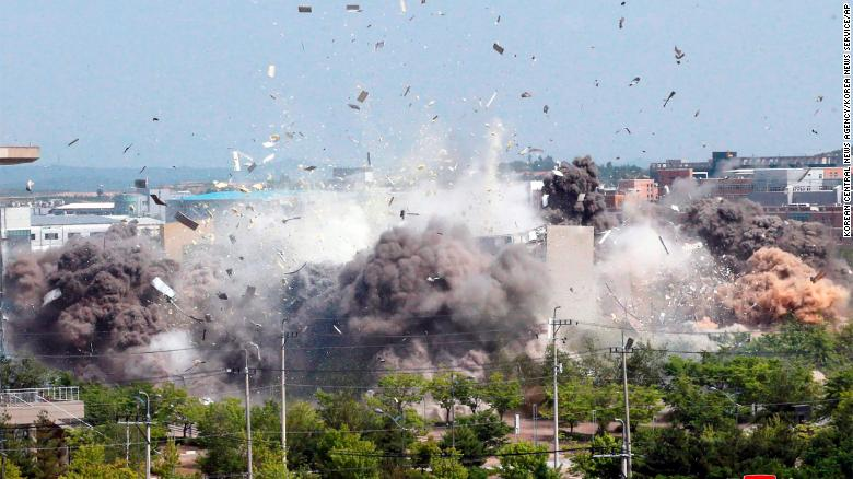 North Korea blows up liaison office in Kaesong used for talks with ...