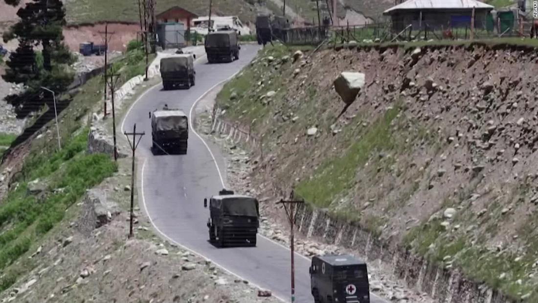 INDIAN ARMY CONVOY MOVING ALONG SRINAGAR-LEH NATIONAL HIGHWAY