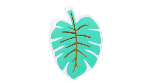 Palm Leaf Shape Beverage Napkin Green