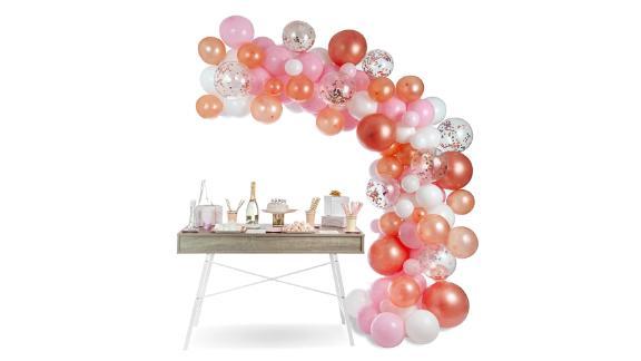 Kit arc de guirlande de ballon rose or rose
