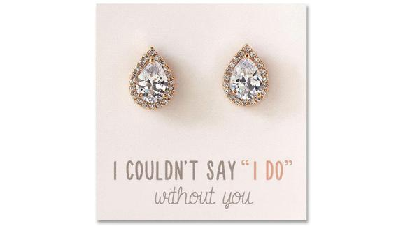 A+O Wedding Bridesmaid Jewelry Gift