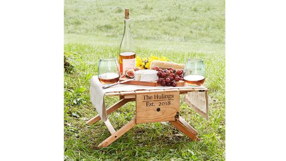 Porte-vin de table de pique-nique personnalisé