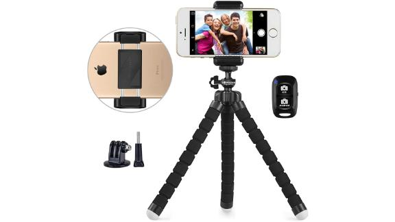 UBeesize Portable and Adjustable Camera Stand Holder with Wireless Remote