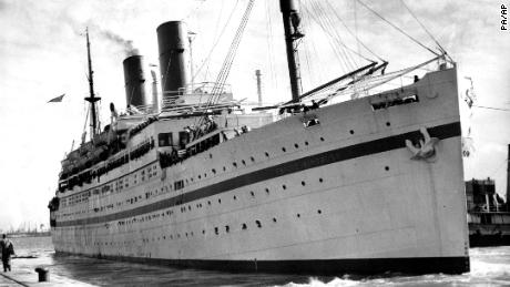 File photo of the Empire Windrush ship.