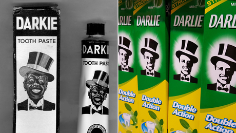 Darlie toothpaste old and new logo