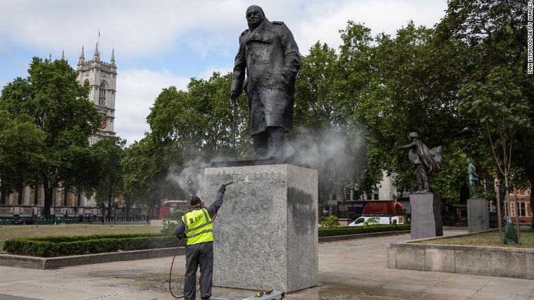 The government has launched legislation to protect historic statues, such as this one of Winston Churchill in Parliament Square, London.